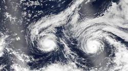 Las impresionantes imágenes de tres huracanes captados desde el espacio