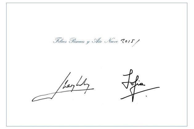 Felicitación de Navidad de Juan Carlos y Sofía: primer año como reyes