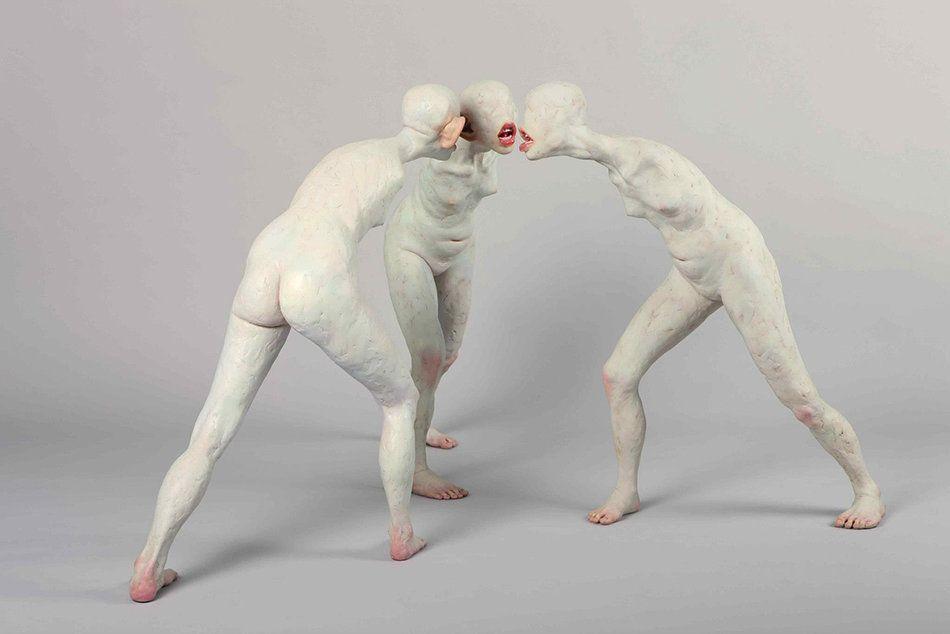 Las inquietantes esculturas humanas de Choi Xoo Ang