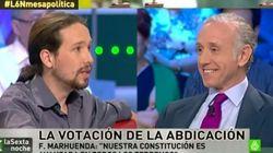 Bronca entre Pablo Iglesias y Eduardo Inda