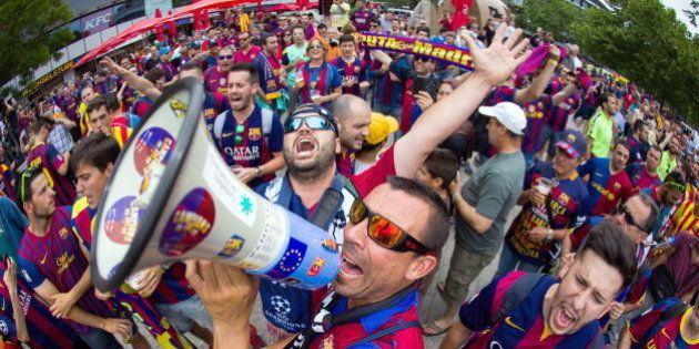Las aficiones de Barça y Juve toman Berlín en un ambiente de