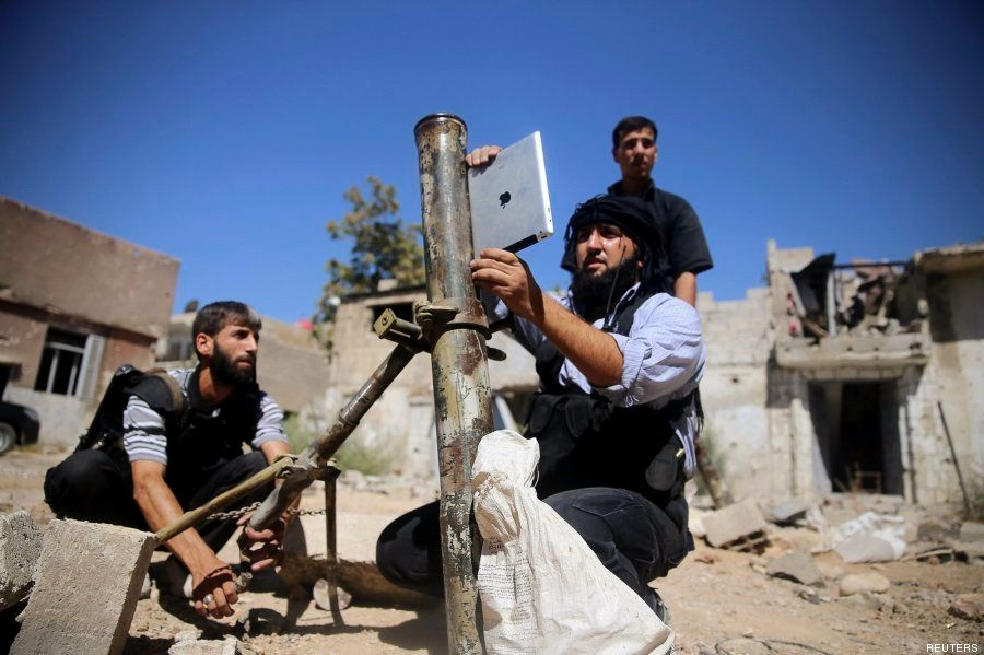 Los rebeldes sirios utilizan iPads para calcular los ángulos de
