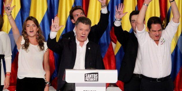 Juan Manuel Santos logra la reelección en Colombia tras prometer avances en el proceso de