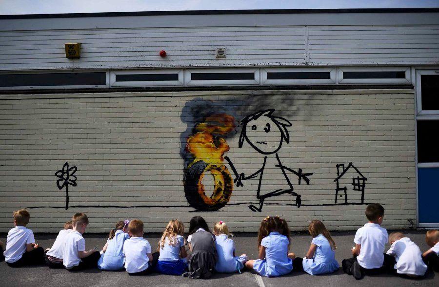 El inesperado regalo de Banksy a los alumnos de una escuela de