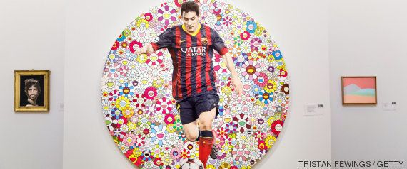 Damien Hirst pinta a Messi en un cuadro benéfico de casi medio millón de