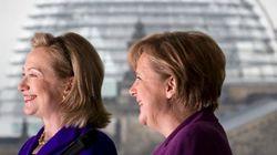 Clinton amenaza el reinado de Merkel como mujer más poderosa del mundo, según