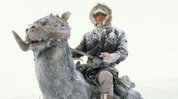 El disfraz de Luke Skywalker y un tauntun que causa furor en