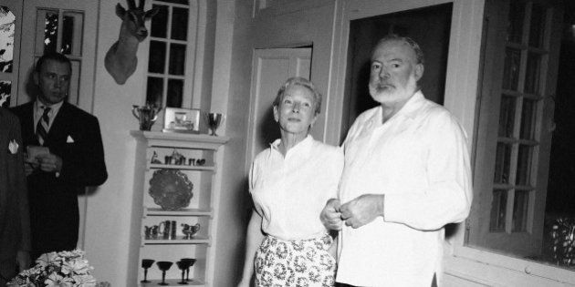 Life was exciting and full of adventure for author Ernest Hemingway and his wife, Mary, when this photo...