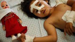 Los niños palestinos se enfrentan a las heridas y a la pérdida de sus familiares por los ataques