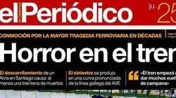 El accidente, en las portadas de los periódicos
