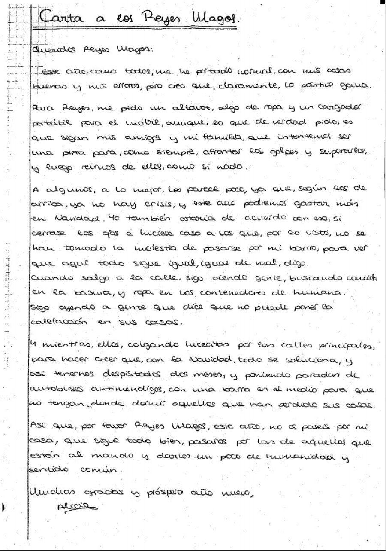 La carta de una niña a los reyes magos que avergonzará a los