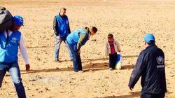 Huye de la guerra en Siria con 4 años y una bolsa de plástico