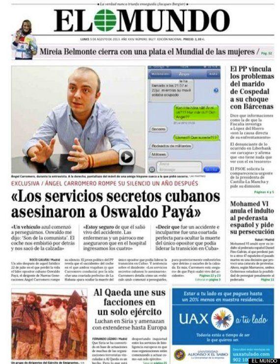 Ángel Carromero, entrevista en 'El Mundo': 'A Oswaldo Payá lo
