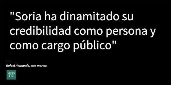 Encuentra las semejanzas: lo que Hernando decía sobre Soria hace 8 días y lo que dice