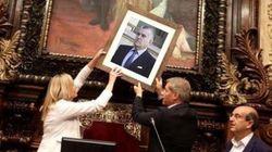 Los montajes del PP con la foto del rey en el Ayuntamiento de