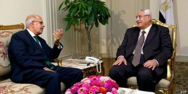 El presidente interino egipcio busca primer