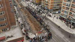 Las obras del barrio de Gamonal en Burgos, paralizadas