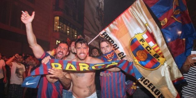 Un paseo en bus y una fiesta en el Camp Nou para celebrar la