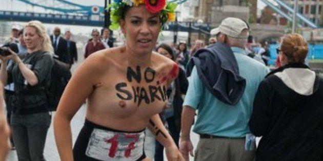 Femen (Topless Warrior): las feministas ucranianas, detenidas en Londres por manifestarse desnudas