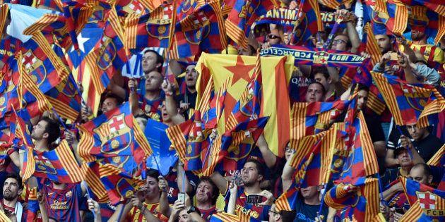 La UEFA expedienta al Barça por la exhibición de esteladas en la final de