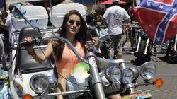 Harleys por todas partes en Barcelona