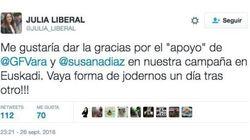 El rabioso tuit de una socialista vasca contra Vara y