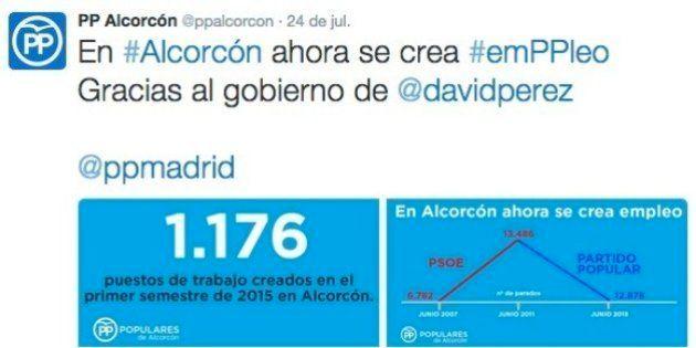 El PP de Alcorcón publica una polémica gráfica del
