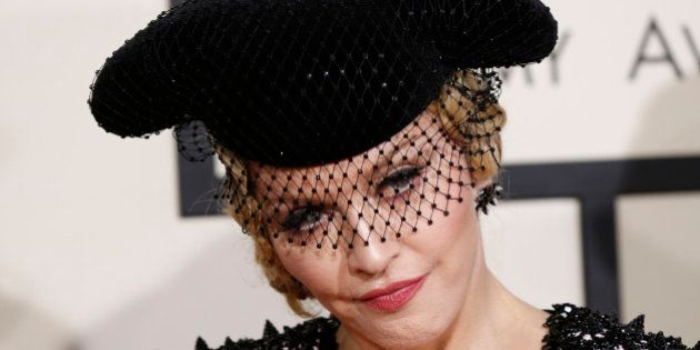 Madonna arrives at the 57th annual Grammy Awards in Los Angeles, California February 8, 2015. REUTERS/Mario...