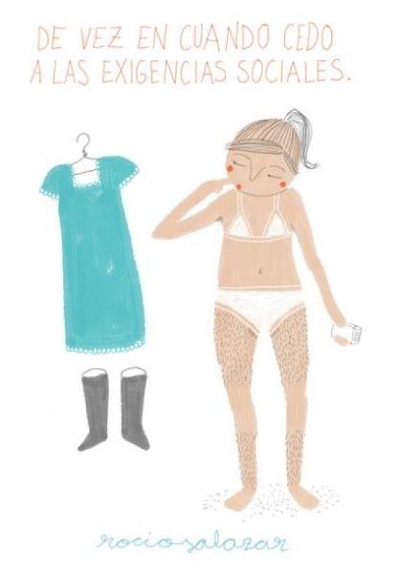 '¿Y si no me depilo más'?: el cómic de Rocío Salazar contra la depilación femenina
