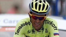 El aplaudido tuit de Contador tras perder una etapa en los últimos