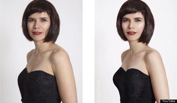 Mujeres 'reales' transformadas con Photoshop: la reacción que no se esperaban