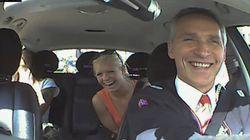 El primer ministro noruego, taxista por un