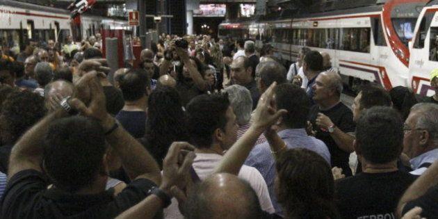 Renfe, Adif y Feve, en huelga contra la liberalización del