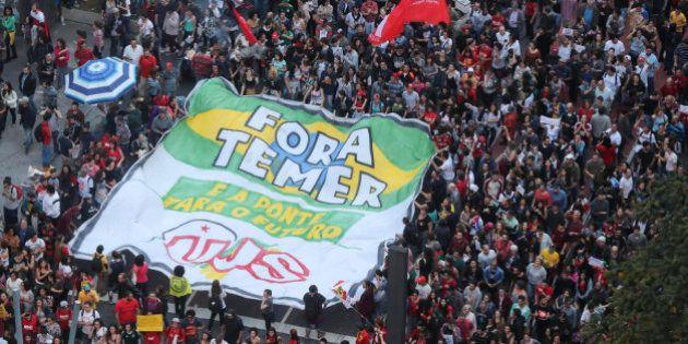 Miles de brasileños protestan en Sao Paulo contra el Gobierno de Michel