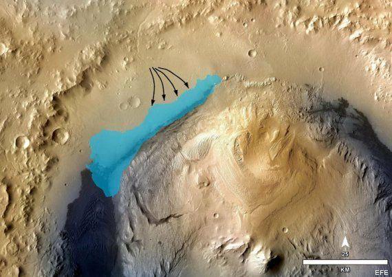 Curiosity halla en Marte pruebas de la existencia de un lago que pudo albergar
