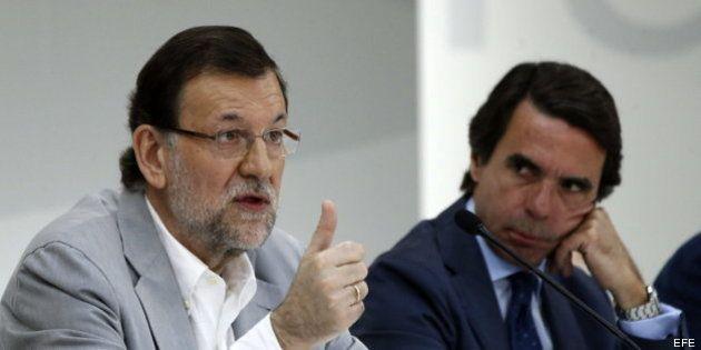 Rajoy, junto a Aznar:
