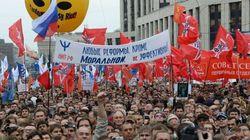 Miles de rusos piden la dimisión de