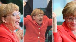 Merkel pasándoselo en grande y otras imágenes del