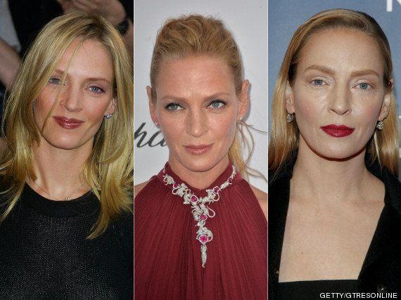 Uma Thurman, irreconocible: el cambio de la cara de la actriz