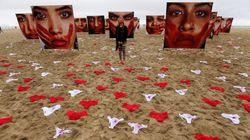 420 bragas en Copacabana para denunciar las violaciones en