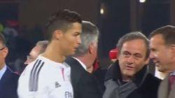 Cristiano Ronaldo niega el saludo a Platini