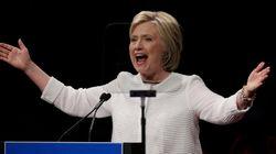 Clinton mira a noviembre apelando a la historia como primera mujer