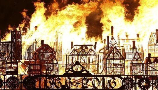 Arde Londres: la impresionante conmemoración del gran incendio de la