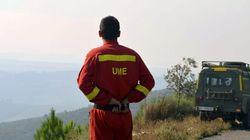 Un incendio fuera de control quema la Sierra de