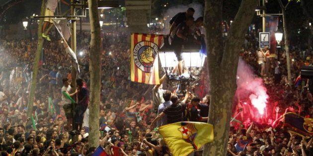 Más de 50.000 barcelonistas festejan la Champions en