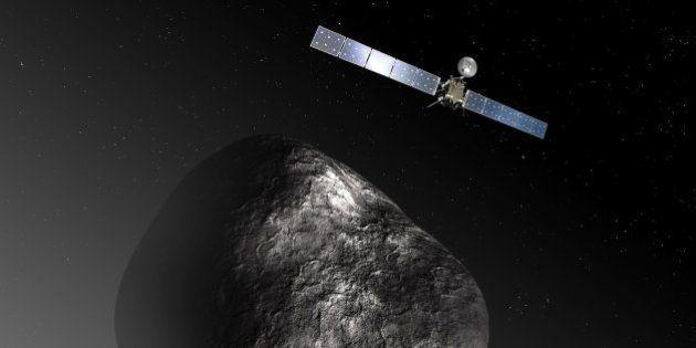 La sonda Rosetta encuenta a su módulo Philae antes de acabar su