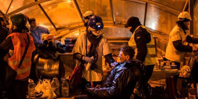 Noche de relativa calma en Kiev tras dos días de disturbios con 28