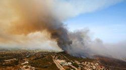 El fuego avanza sin control en Bolulla mientras mejora la situación del incendio en