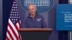 Bill Murray se cuela en la sala de prensa de la Casa Blanca y hace