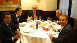 ¡Ya están aquí! Los montajes de la cena de Rajoy, el rey Juan Carlos y los